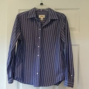 ▪Talbots▪ Classic Striped Collared Shirt